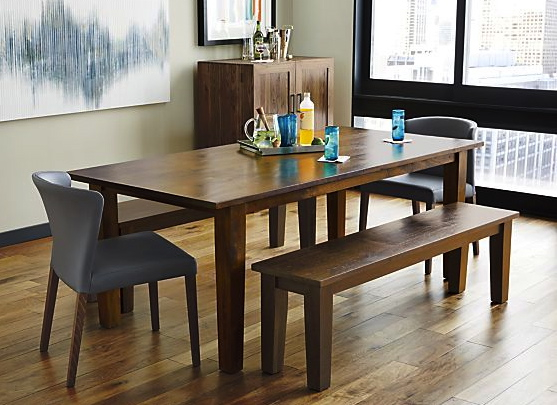 The dining room table tale through the front door for Crate and barrel dining room ideas