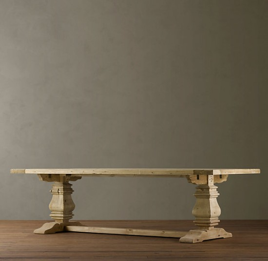 restoration-hardware-trestle-table