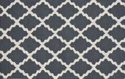 Homespun Moraccan Blue Gray Rug