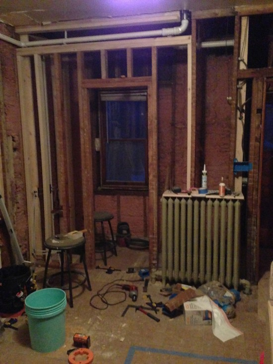 bathroom-framing-progress-through-the-front-door