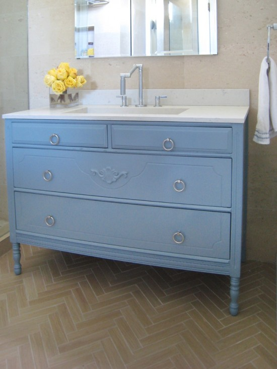 contemporary-blue-dresser-sink