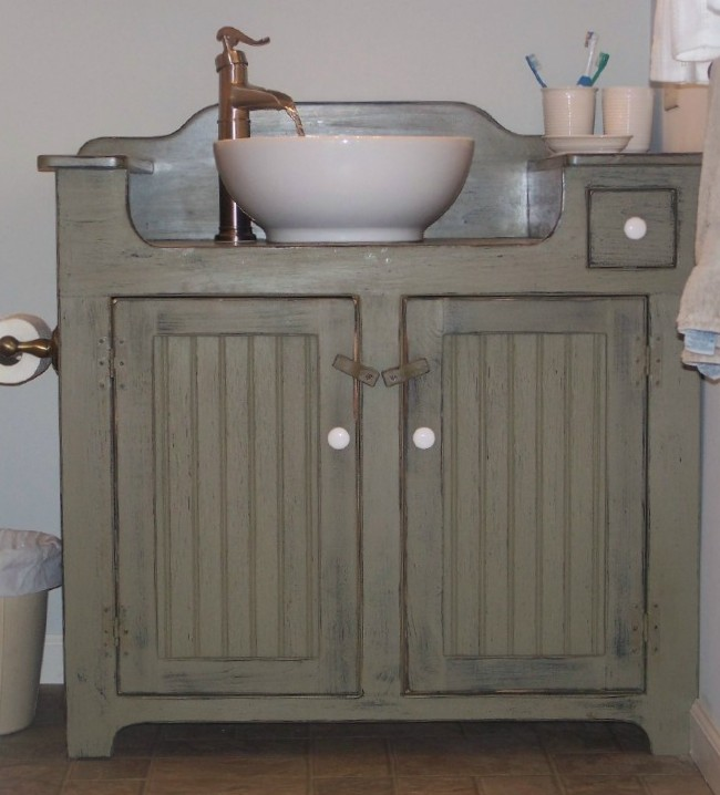Farmhouse Vessel Sink : Diy Farmhouse Sink Bathroom Contemporary With Wall Mounted Sink Faucet
