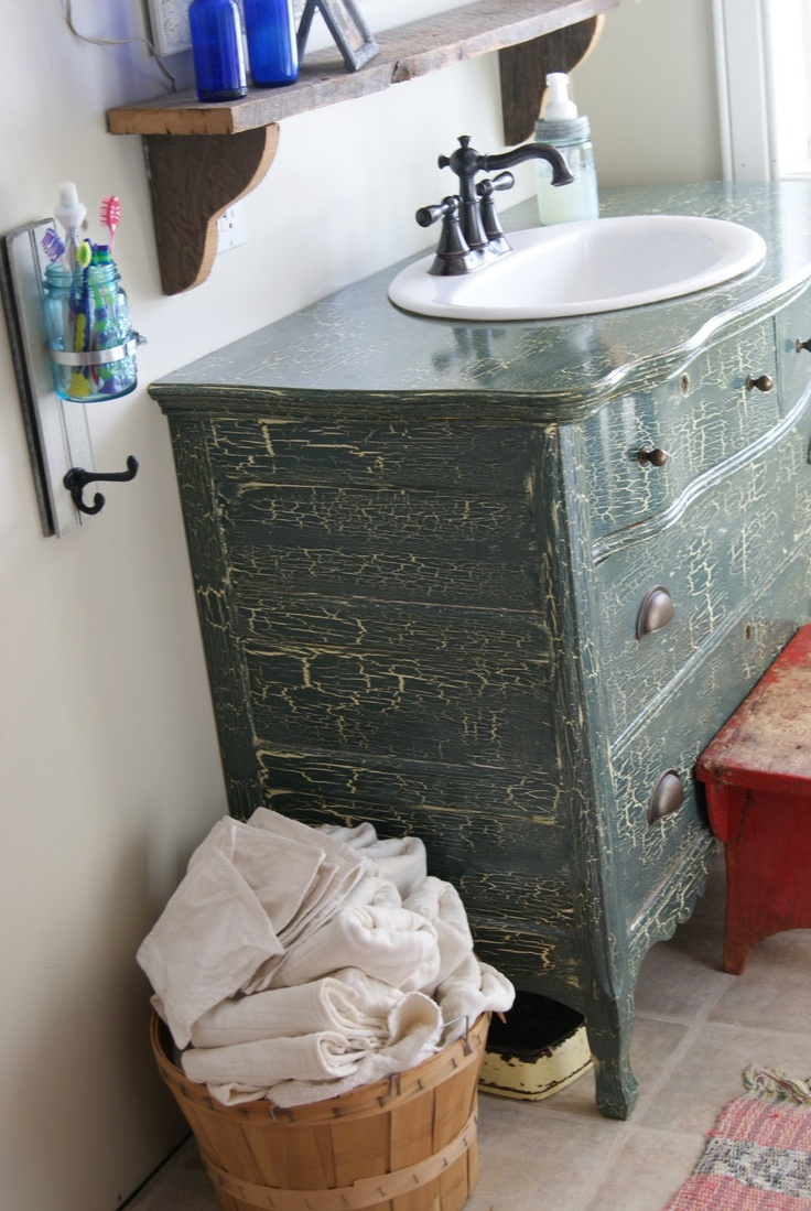 Diy bathroom vanity from dresser - The Best Dresser Turned Sink Hacks Through The Front Door